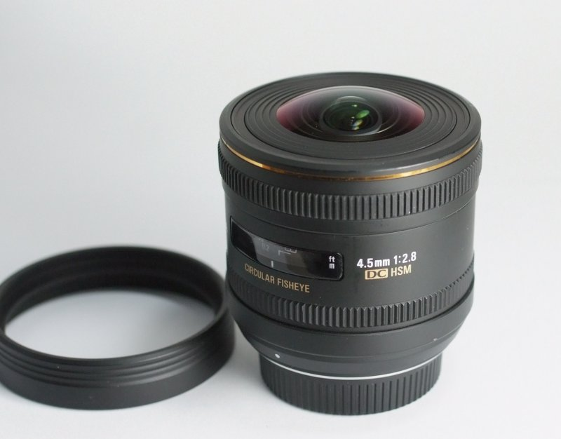Sigma 4,5mm f/2,8 EX DC Circular Fisheye pro Nikon